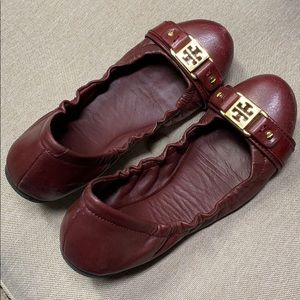 Tory Burch Red flats size 7
